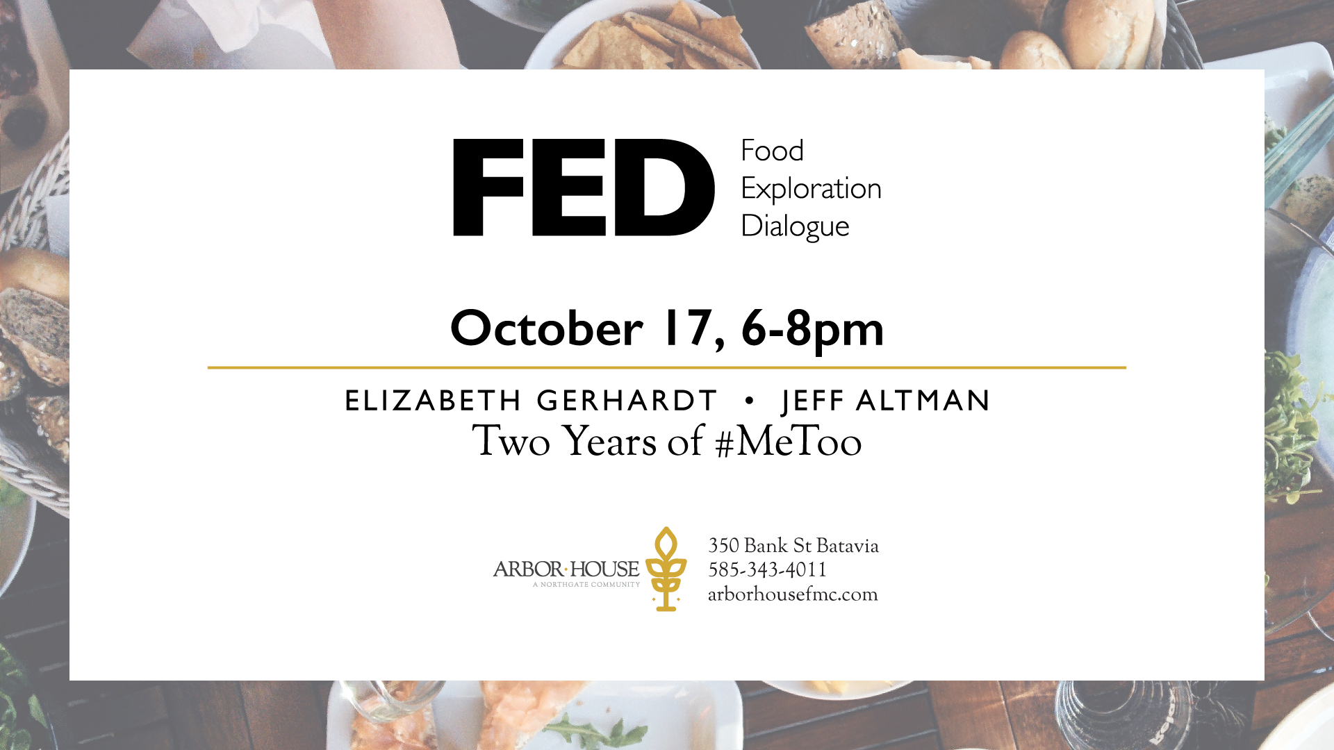 FED Talk October 17 at Arbor House Free Methodist Church